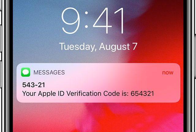 apple id doğrulama kodu