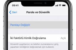 apple iki faktörlü kimlik doğrulama