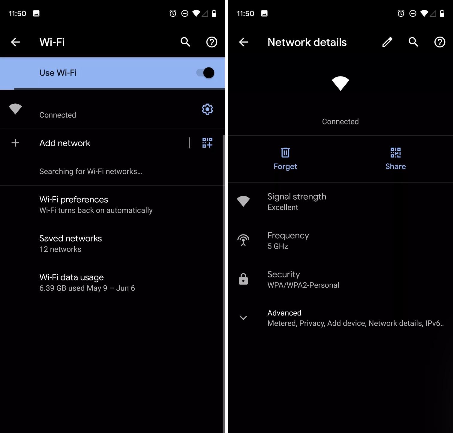 Android 10, Wi-Fi ağlarını bir QR koduyla paylaşmayı çok kolaylaştırıyor.