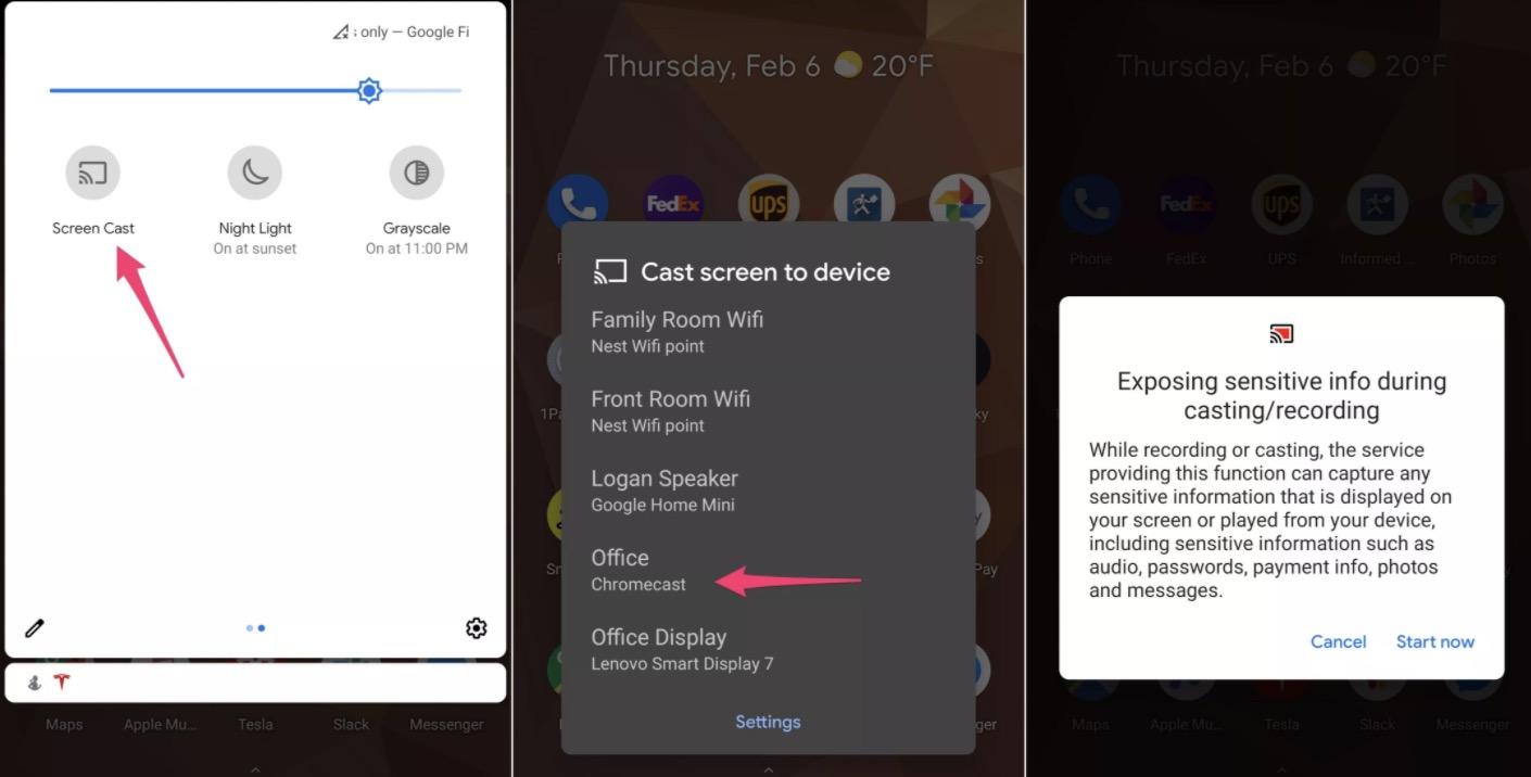 android tv aktarımı hızlı ayarlar