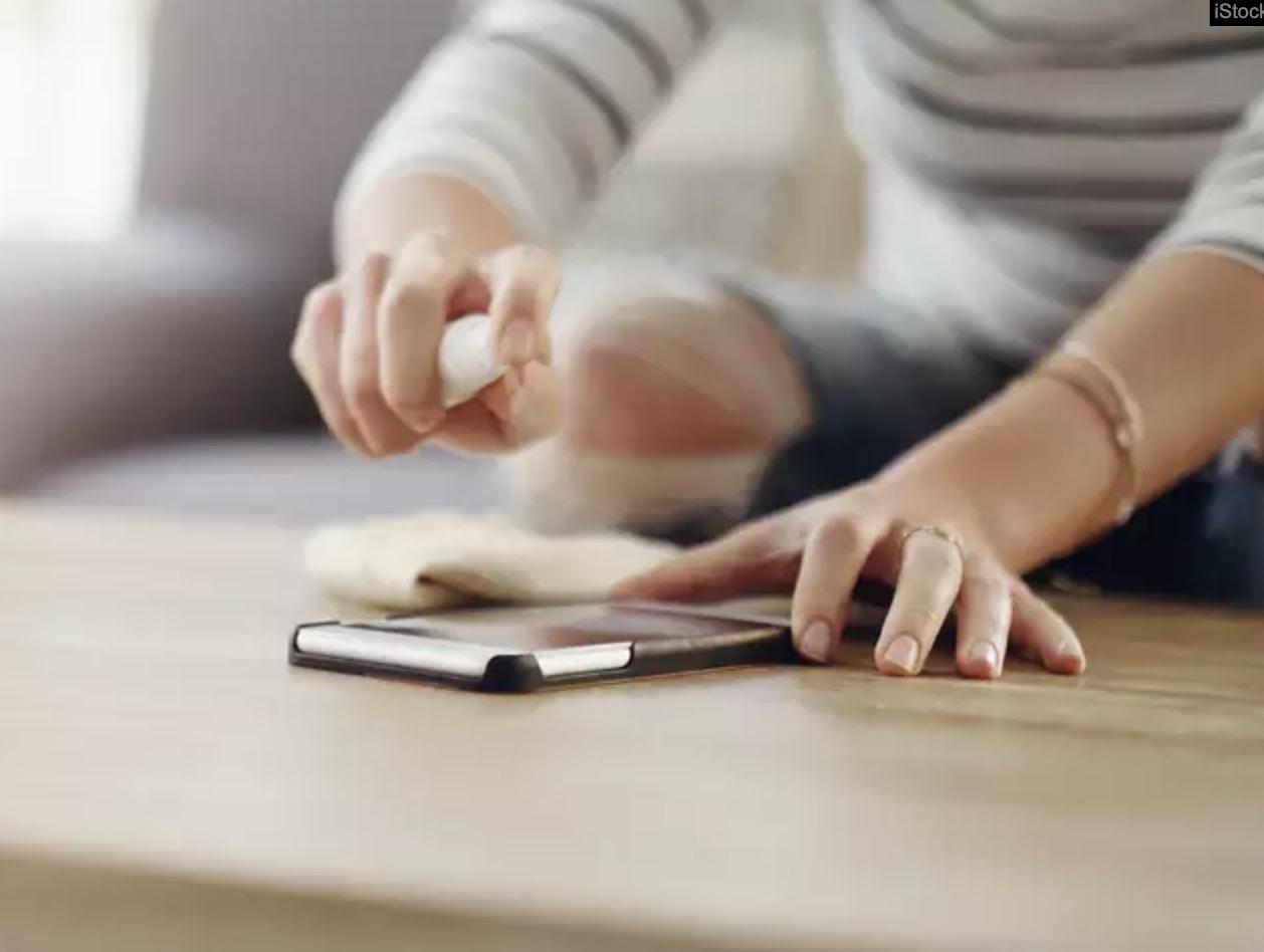 telefonun koronavirüs temizliği