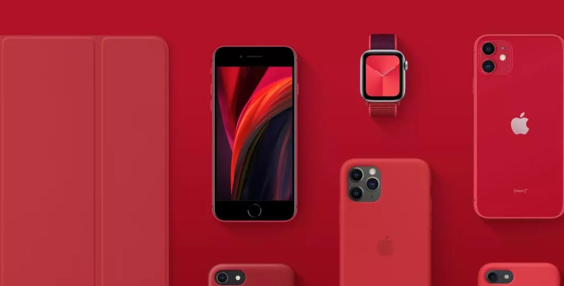 iPhone SE kırmızı koronavirüs desteği