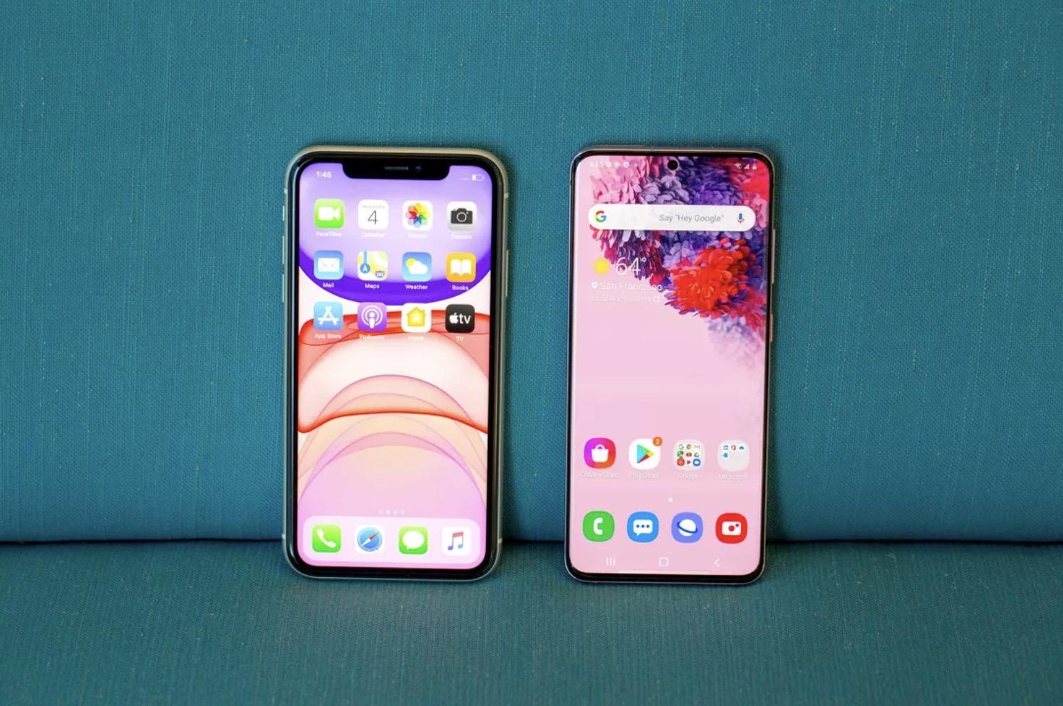 iPhone 11 ve Galaxy S20
