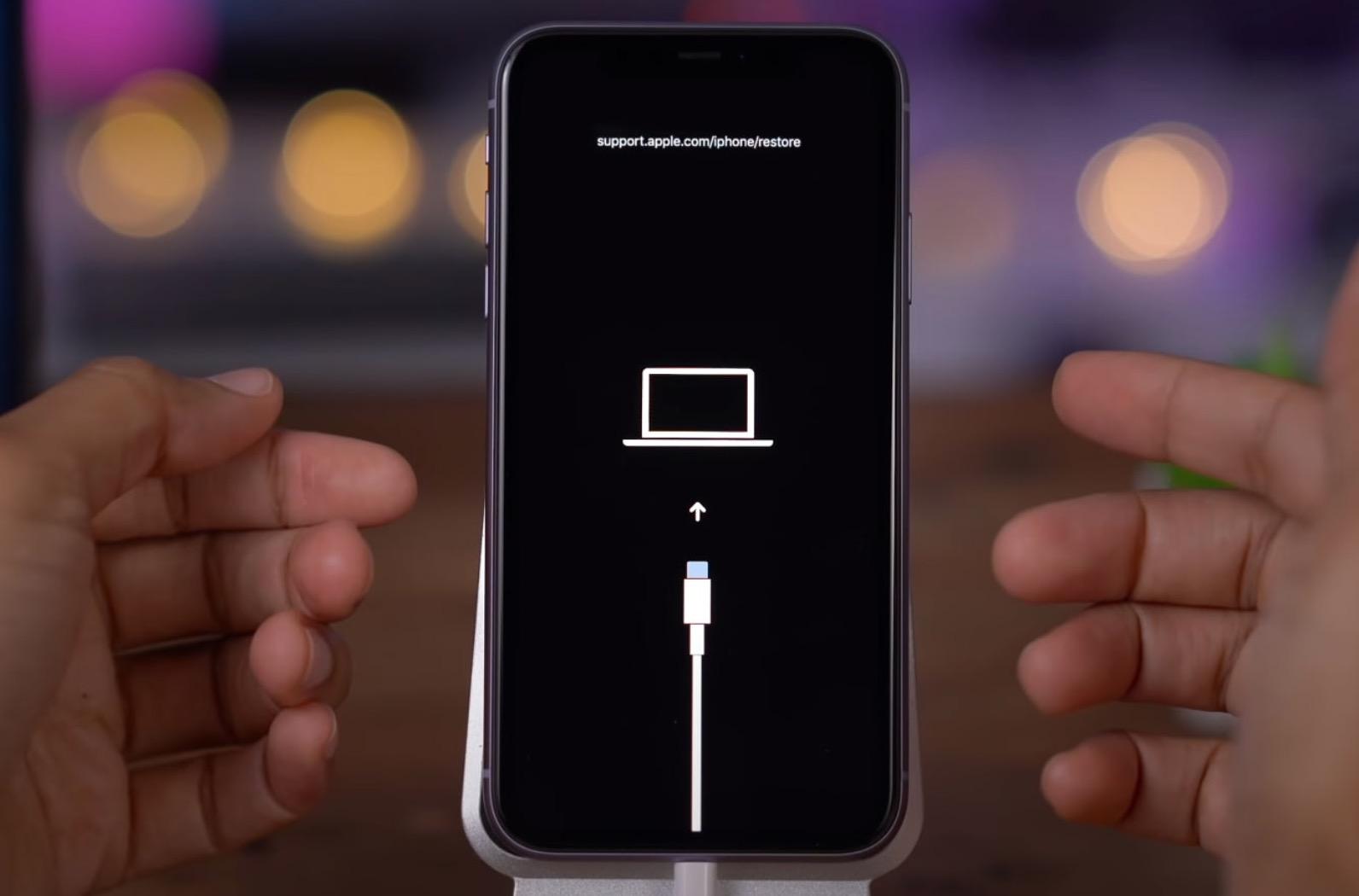 iPhone DFU mode geri yükleme modu