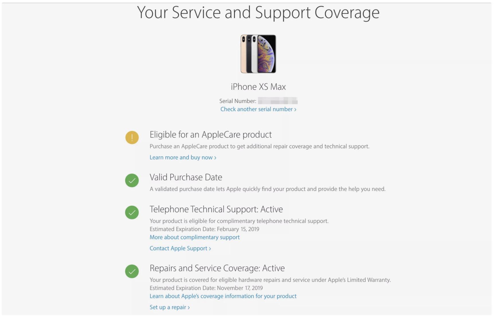 iphone servis ve destek kapsamı sorgulama
