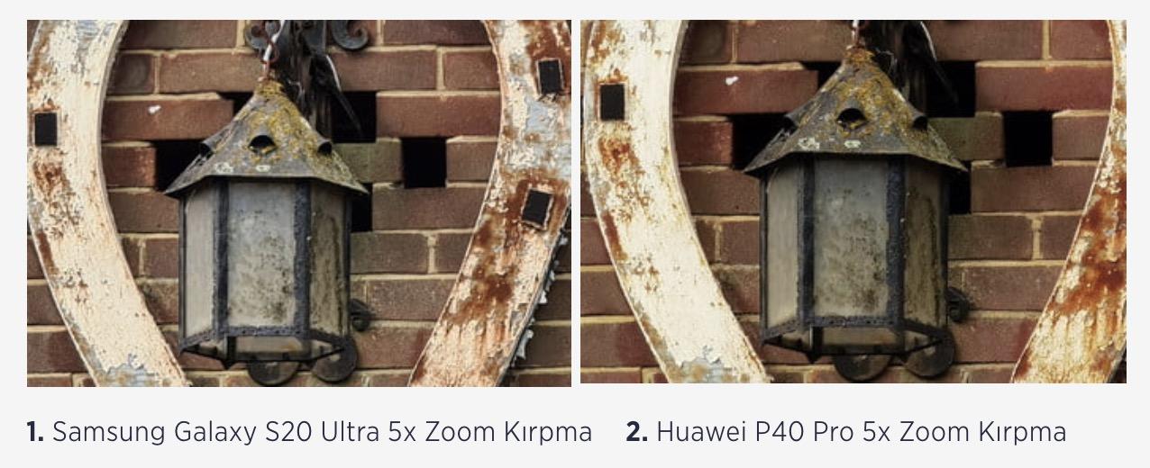 s20 ultra 5x zoom huawei p40 pro kamera karşılaştırma