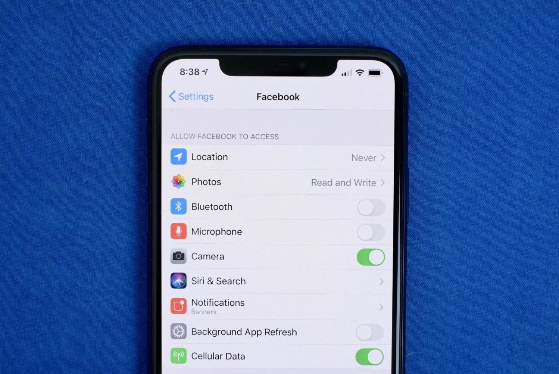 iPhone gizlilik kontrolü
