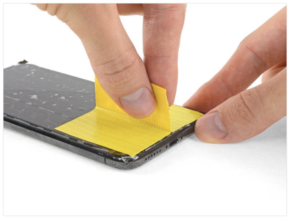 iphone 11 çatlakları bantlayın