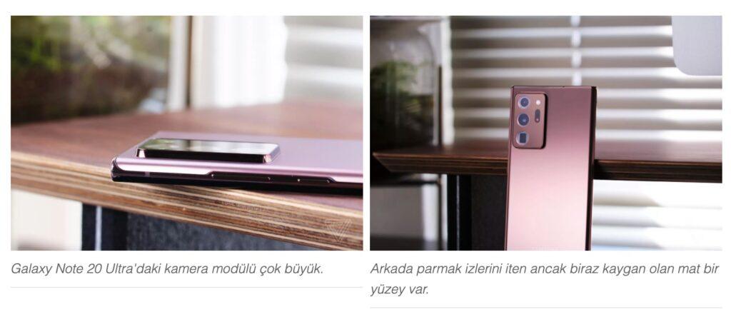 Galaxy Note 20 Ultra kamera modülü