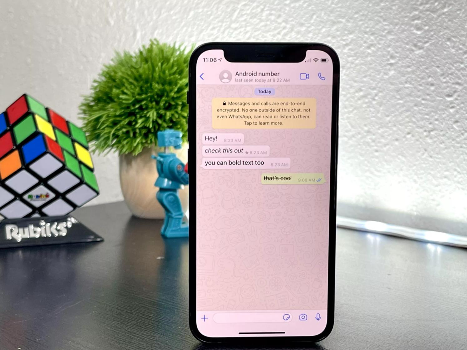 whatsapp metin yazı tipleri